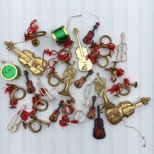 Lot Vintage Music Instrument Christmas ornaments